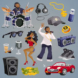 Rap Music Elements Royalty Free Stock Photos