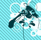 Rap Music Illustration Stock Image