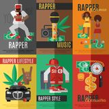 Rap Music Poster Stock Images