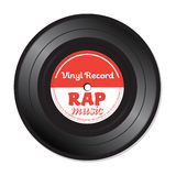 Rap music vinyl record Stock Photos
