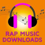 Rap-Musik bedeutet Illustration der Downloading-Lied-3d Lizenzfreie Stockbilder