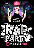 Rap Party poster Royalty Free Stock Photos