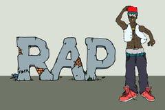 Rap singer illustration Stock Photos