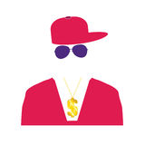 Rap singer illustration in pink Stock Images