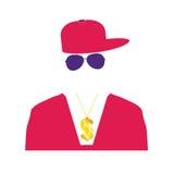 Rap singer illustration in pink Stock Images