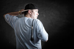 Rap singer rapper man with microphone Stock Photo