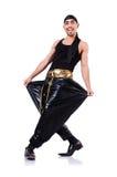 Rap tancerz odizolowywający Obrazy Royalty Free