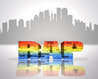 Rap in town Stock Image