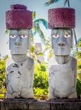 Rapa Nui或者复活节岛Moai 免版税库存照片