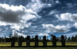 Ahu Akivi - Rapa Nui Royalty Free Stock Images
