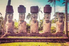 Rapa Nui, or Easter Island Moai Royalty Free Stock Photos