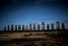 Rapa Nui Moai Statues Easter Island. Chile royalty free stock photo