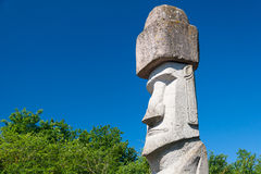 Rapa Nui Statue in Viterbo, Italy Stock Photos