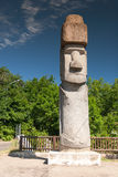 Rapa Nui Statue in Viterbo, Italy Royalty Free Stock Image