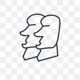 Rapa Nui vektorsymbol som isoleras på genomskinlig bakgrund som är linjär royaltyfri illustrationer