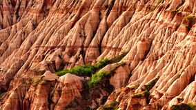 Rapa Rosie in Romania , red mountain with red rock. Rapa Rosie in Romania , red mountain, red rock , deserted royalty free stock photography