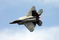 Rapace F-22 au-dessus de Luc AFB Photographie stock