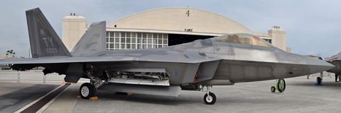 Rapace F-22 Images libres de droits