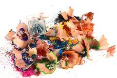 Rapagem dos lápis coloridos crayo Fotografia de Stock Royalty Free