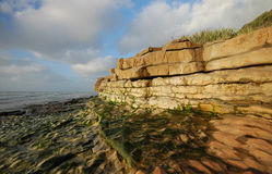Rapahoe Beach rock formations Stock Photography