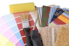 Rapair e planeamento da decoração Fotografia de Stock Royalty Free