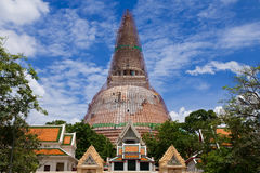 The rapairing of old pagoda Royalty Free Stock Image