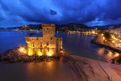Rapallo Castle, Italy. The Rapallo castle (Castello di Rapallo) is located in the city with the same name on the Ligurian coast in Italy, a few kilometers south stock image