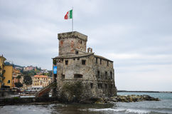 Rapallo Castle in Liguria Royalty Free Stock Photography
