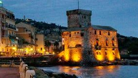 Rapallo castle night