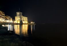 Rapallo castle night Royalty Free Stock Photos