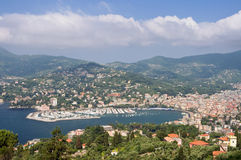 Rapallo and the gulf of Tigullio Stock Photo