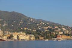 Rapallo, Italia-vista dall'acqua Fotografia Stock