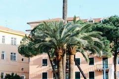Rapallo, Italia - 03 27 2013: Vista delle vie di una stazione turistica Rapallo immagini stock