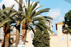Rapallo, Italia - 03 27 2013: Vista delle vie di una stazione turistica Rapallo fotografia stock
