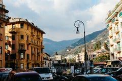 Rapallo, Italia - 03 27 2013: Vista delle vie di una stazione turistica Rapallo fotografie stock libere da diritti
