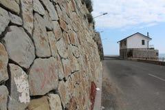 Rapallo, Italien - 03 27 2013: Ansicht der Straßen eines beliebten Erholungsorts Rapallo lizenzfreie stockfotografie