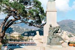 Rapallo, Italien - 03 27 2013: Ansicht der Stra?en eines beliebten Erholungsorts Rapallo lizenzfreies stockfoto