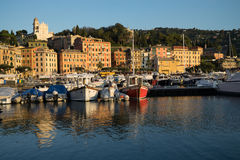 Rapallo, Italy, marina at surise Royalty Free Stock Image