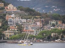 Rapallo Italy November/5/2018 - Disastrous outcome of a powerful storm that occurred on the night of October 29 in the harbor of royalty free stock photo