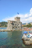 Rapallo. Liguria. Sea and beach in Northern Italy, Cinque Terre, UNESCO SITE and Natural Reserve Stock Photography