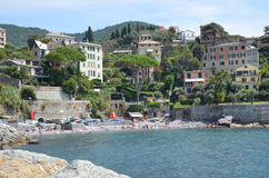 Rapallo. Liguria. Sea and beach in Northern Italy, Cinque Terre, UNESCO SITE and Natural Reserve Stock Photos