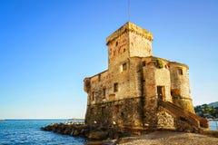 Rapallo, the medieval castle on the sea. Genoa, Ligury, Italy Stock Images
