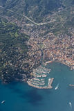 Rapallo village Italy aerial view Stock Image