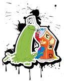 rapar grafittispray Arkivbild