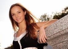 Rapariga bonita ao ar livre no verão Foto de Stock Royalty Free