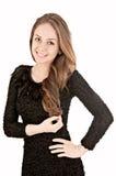 Rapariga bonita com cabelo longo Foto de Stock Royalty Free