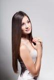 Rapariga bonita com cabelo longo Foto de Stock