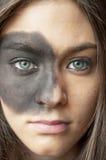 Rapariga bonita com composição da moda Imagens de Stock