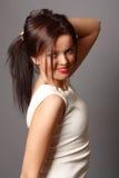 Rapariga bonita em um vestido bonito Fotos de Stock