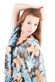 Rapariga bonita em um vestido leve Fotografia de Stock